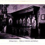 Pocztówka z Wielgomłyn – stalle w kościele parafialnym