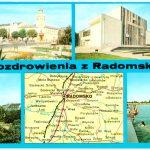 """Pocztówka z mapką – """"Pozdrowienia z Radomska"""""""