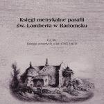 """Zaproszenie na promocję czwartej części """"Ksiąg metrykalnych"""""""