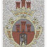 Pocztówka z Radomska – mozaikowy herb miasta