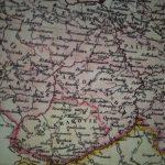 Fragment (zdjęcie) mapy Królestwa Polskiego i dawnych ziem Rzeczypospolitej (1831 r.)