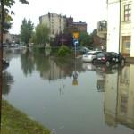 Zalane centrum miasta (zdjęcia Radomska z sierpnia 2011 roku)