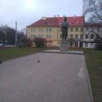 Plac Reymonta i pomnik Reymonta w Łodzi