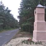 Kapliczka – pozostałość po cmentarzu cholerycznym w Radziechowicach Drugich