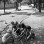 1960 rok: Radomsko, ul. Wilsona, zdjęcie wykonane po ulewie