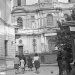 Radomsko, czarno-białe zdjęcie – ul. Reymonta w 1961 roku