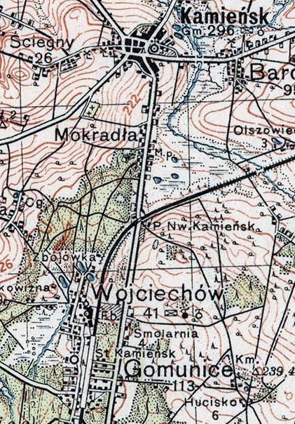 mapa_wig1935_kolej_gomunice_kamiensk