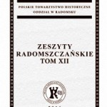 """Zaproszenie na promocję XII tomu """"Zeszytów Radomszczańskich"""""""