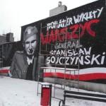 Patriotyczny mural w centrum miasta