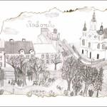 Nowa pocztówka – centrum Radomska na rysunku Natalii Grabowskiej (2016)