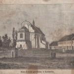 Stary kościół parafialny w Radomsku (rycina z książki R. Hube)