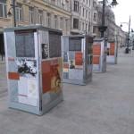 Plenerowa wystawa poświęcona Warszycowi i KWP na ulicy Piotrkowskiej w Łodzi