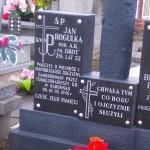 Grób Jana Rogulki na cmentarzu w Niedośpielinie
