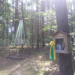 Orzechów: miejsce zrobienia krzyża brzozowego dla pielgrzymów