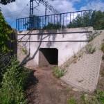 Tunel pod torami w Gomunicach (obok dawnego zakładu Cefol)