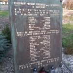 Tablica pamiątkowa poświęcona pracownikom Metalurgii