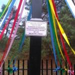 Pamiątka pielgrzymki łowickiej koło miejscowości Budy
