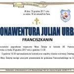 Zmarł Ojciec Bonawentura Julian Urban OFMConv