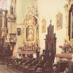[stare zdjęcie] Wnętrze kościoła Franciszkanów w Radomsku