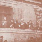 [stare zdjęcie] Członkowie Rady Delegatów Robotniczych w Radomsku podczas wiecu