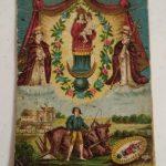 Cztery przedwojenne obrazki religijne z parafii Gidle
