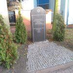 Pomnik – macewa na terenie dawnego getta żydowskiego w Radomsku