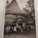 1947 r., zdjęcie sprzed kościoła Św. Marii Magdaleny w Gidlach