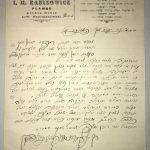 List Rabina I. M. Rabinowicza z Pławna (1928 r.)