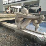 Wioślarz przed Miejskim Domem Kultury w Radomsku
